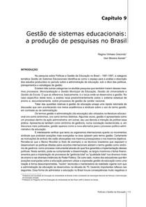 gestao de sistemas educacionais  pesquisas no brasil
