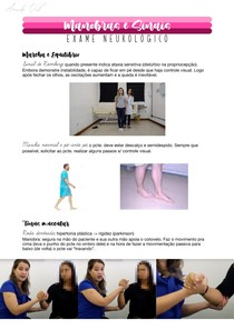 Manobras e Sinais - NEUROLOGIA (exame físico)
