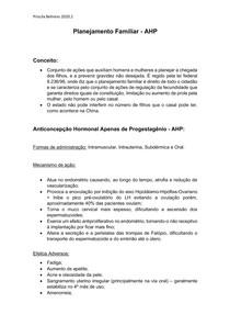 Planejamento Familiar - Anticoncepção Hormonal Apenas Progestagênica