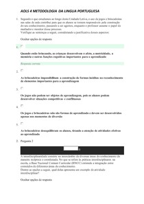 AOLS 4 METODOLOGIA DA LINGUA PORTUGUESA