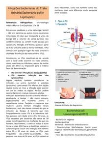 Infecções bacterianas do Trato Urinário