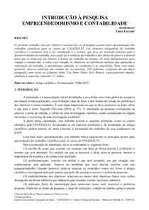 EMPREENDEDORISMO E CONTABILIDADE  THALYTA  PAPER