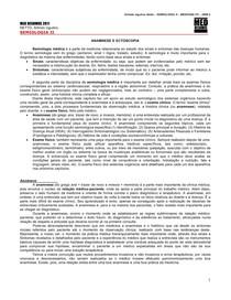 SEMIOLOGIA 01 - Anamnese e Ectoscopia