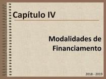 Matemática Financeira Capítulo IV   Modalidades de Financiamento UALG ESGHT