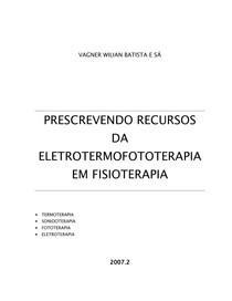 PRESCREVENDO RECURSOS DA ELETROTERAPIA