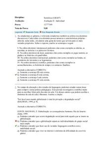 avaliação 2 - Semiótica