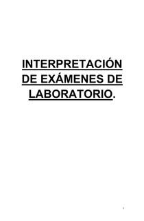Interpretación de Laboratorio