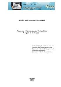 Rousseau – Discurso sobre a Desigualdade