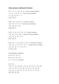 Lista De Exercicios Polinomios Resolvidos Calculo I