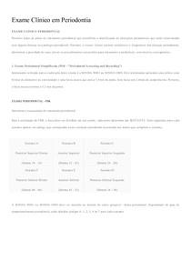 Exame Clínico em Periodontia