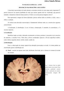 Descrição macroscópica em patologia