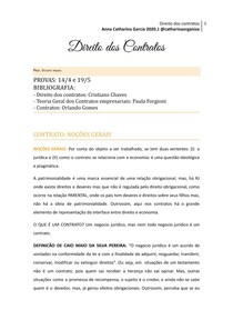 Caderno Direito dos Contratos @catharinaorganiza