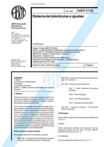 NBR 06158 - 1995 - Sistema de Tolerâncias e Ajustes