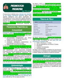 Pneumologia - Pneumonia Adquirida na Comunidade