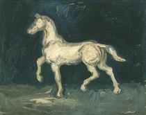 Vincent Willem van Gogh-Gesso Estatueta-de-um-Horse