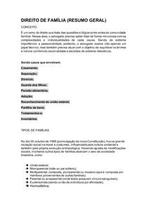 DIREITO DE FAMÍLIA (resumo geral - parte 1)