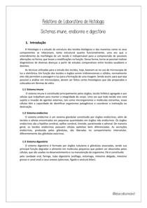 Relatório sistema endócrino, imune e digestório