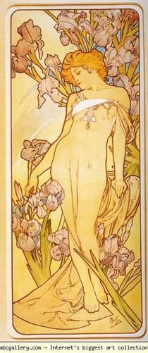 Alphonse Mucha - Iris. Da Série Flores