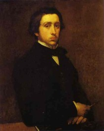 Edgar Degas - Self Portrait Black