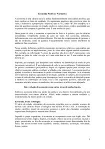 Economia positiva x normativa + Economia  x áreas do conhecimento (1)