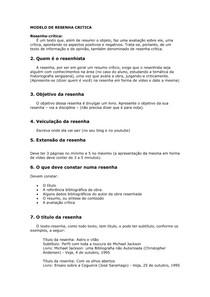 MODELO DE RESENHA CRITICA