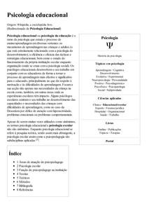 Psicologia educacional – Wikipédia  a enciclopédia livre
