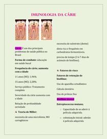 IMUNOLOGIA DA CÁRIE
