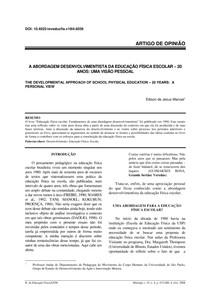 A ABORDAGEM DESENVOLVIMENTISTA DA EDUCAÇÃO FÍSICA ESCOLAR