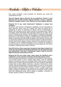 ATIVIDADE BIOFÍSICA - OLFATO E PALADAR