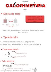 Calorimetria Fisica