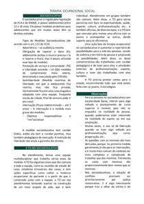 Terapia Ocupacional e Socioeducativo - resumo de aula