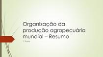 Agropecuária/ Geografia - 1ª parte