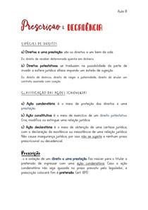 PRESCRIÇÃO E DECADÊNCIA (Direito Civil)