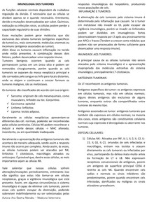 IMUNOLOGIA DE TUMORES E PARASITAS