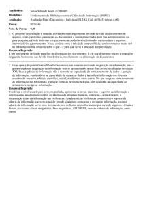 Avaliação Final (Discursiva)-Fundamentos da Biblioteconomia e Ciências da Informação