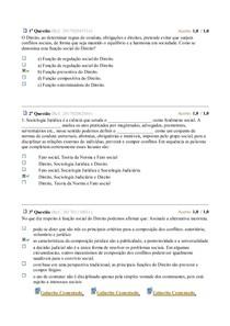 Sociologia Juridica e Judiciária ( AV Parcial)