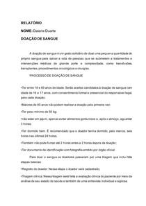 MODELO 3 DOAÇÃO DE SANGUE