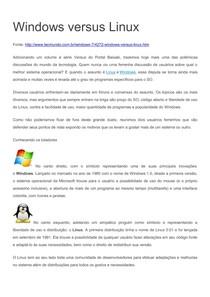 Debate Windows Versus Linux