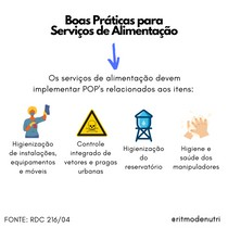 POPs OBRIGATÓRIOS NOS SERVIÇOS DE ALIMENTAÇÃO