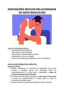 DISFUNÇÕES SEXUAIS RELACIONADAS AO SEXO MASCULINO - ejaculação precoce e retardada, disfunção erétil, transtorno do desejo sexual hipoativo