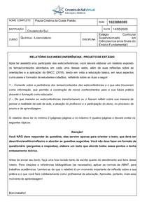 Atividade Reflexiva III - Cruzeiro do Sul licenciatura