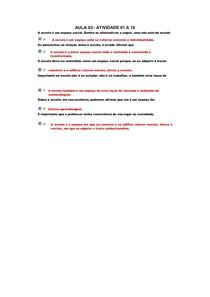 ATIVIDADE 01 a 10
