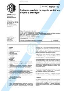 NBR 8160 - 1999 - Sistemas Prediais de Esgoto Sanitário - Projeto e Execução