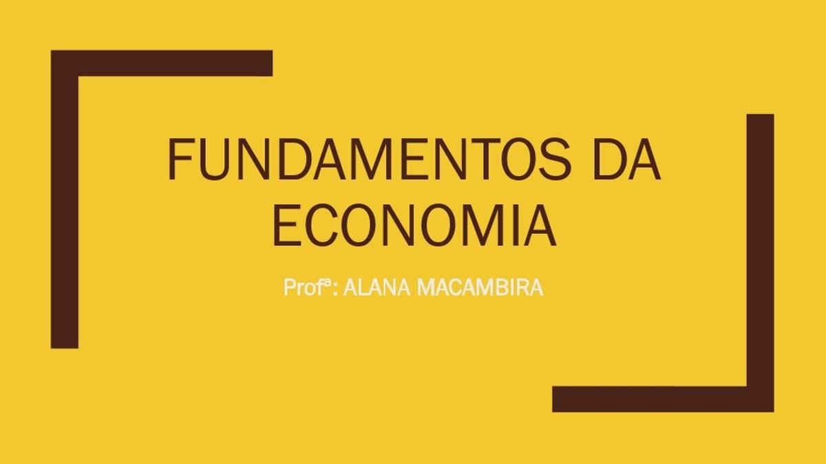 Pre-visualização do material Aula 03 Fundamentos da economia - página 1