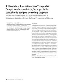 A Identidade Profissional dos Terapeutas Ocupacionais: considerações a partir do conceito de estigma de Erving Goffman