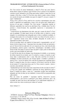 TRABALHO DE ESTÁGIO - ANÁLISE CRÍTICA: Ensino de Educação Física no Ensino Fundamental (séries iniciais)