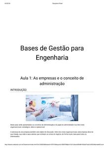Aula 01 - Bases de gestão para Engenharia - CCE1182