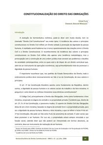 [TEXTO] Constitucionalização do Direito das Obrigações
