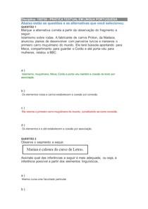 Prova presencial- PRÁTICA TEXTUAL EM LÍNGUA PORTUGUESA