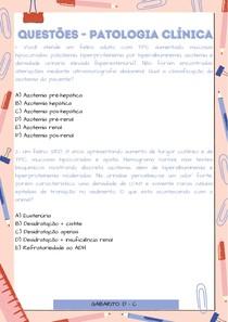 Exercícios - Patologia Clínica